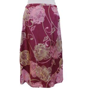 In Wear High/Low Abstract Floral Print Skirt: 10